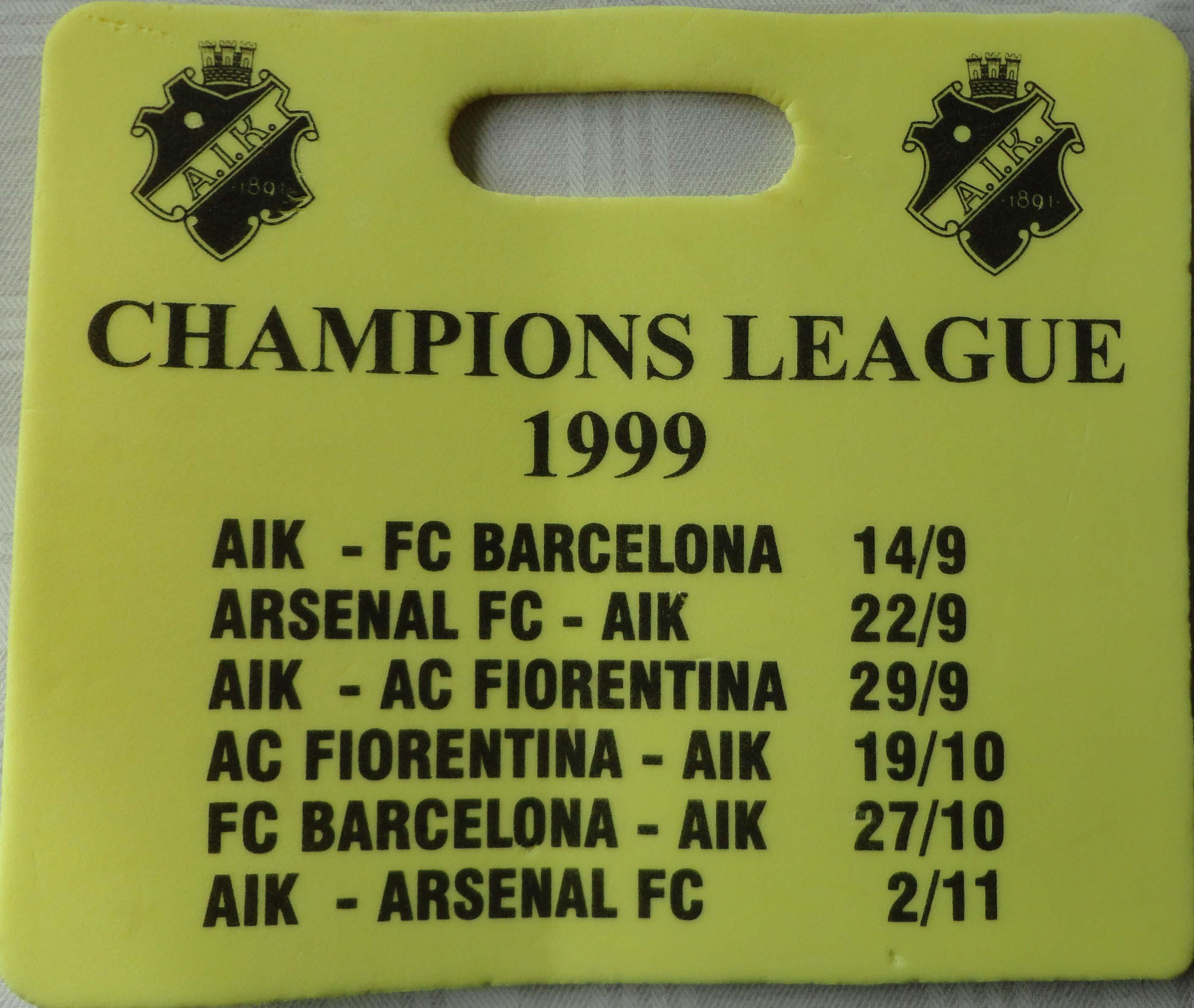 A.I.K. i Championsleague1999